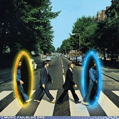 Abbey Road on infinite repeat - now you're thinking with portals!