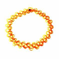 Orange Tattoo Choker-£3 #prettytwisted #jewellery #choker http://prettytwistedonline.co.uk/product/orange-tattoo-choker/