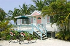 Gulf Breeze Cottages on Sanibel. I think I stayed at this property. I would be happy in a grass hut if on Sanibel.