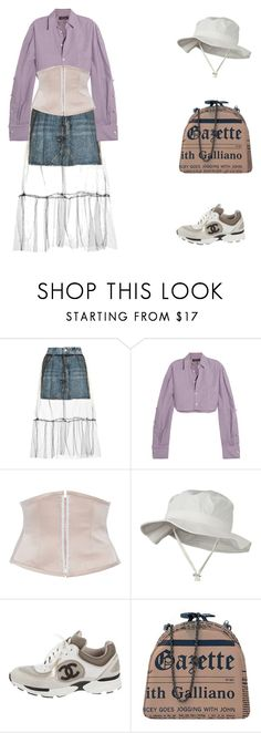"""""""Bez tytułu #530"""" by princepsdominus ❤ liked on Polyvore featuring Topshop, Y/Project, CF. Goldman, Chanel and John Galliano"""