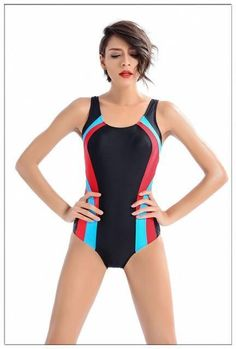 Athletic Training Trikini Sport One Piece Bathing Suit Racing Plus Size Swimwear #racingswimmingsuits #racingswimwear