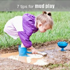 It's that time of year! Get out the muffin tins. From Let the children play; 7 tips for mud play at preschool