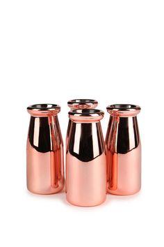 ceramic milk bottle 4 pack #rosegold #typoshop #vase