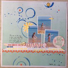 Summer Splash layout - Maria Delicata - Los Papeles de Mama