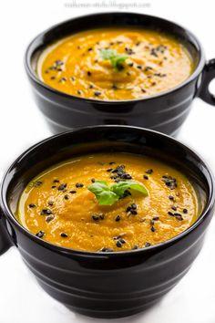 rozkosze stolu: zupa marchewkowa z masłem orzechowym