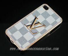 Designer Louis Vuitton iPhone 4 Case iPhone 4S Case - White Damier - 3