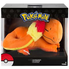 "Official Pokemon Sleeping Charmander Plush 8"" Kids Cuddle Toy TOMY Generation 1   eBay"
