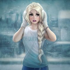 "daekazu:  ""Modern Elsa! :) Illustration based on amazing cosplay and photo of Traci Hines!  """