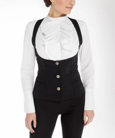 Love this Black Open-Bodice Vest by Arefeva on #zulily! #zulilyfinds