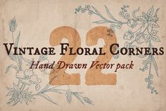 Check out 22 Vintage Floral Corners by Mr Vintage on Creative Market