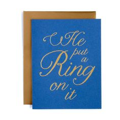 He Put A Ring On It Card