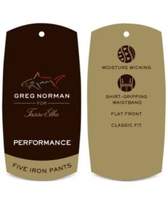 Greg Norman for Tasso Elba Men's 5 Iron Flat Front Golf Pants - Tan/Beige 36x29
