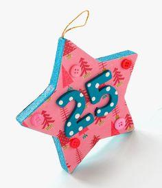 Make a Christmas 25 typography ornament {Mod Podge Rocks} #ornaments #craft #christmas