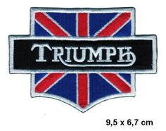 TRIUMPH Daytona England UK Appliques Hat Cap Polo Backpack Clothing Jacket Shirt DIY Embroidered Iron On / Sew On Patch *** Want to know more, click on the image.