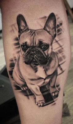 Are you thinking about getting a dog tattoo? we have collected over 100 amazing dog tattoos by the best tattoo artists to inspire your. Dog Tattoos, I Tattoo, Dog Pencil Drawing, Bride Of Frankenstein Costume, French Bulldog Tattoo, Dog Memorial Tattoos, Tattoo People, Animal Fashion, Dog Care