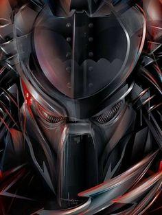 An intergalactic hunter has come to Gotham City looking for a little fun on the Knight Hunt Predator vs Dark Knight Art Print, but Batman doesn't plan on being Alien Vs Predator, Predator Alien, Wolf Predator, Batman Vs, Batman Dark, Knight Art, Dark Knight, Alien Art, Xenomorph