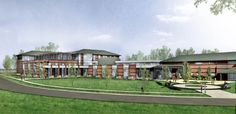 MMCC Expansion rendering to be built at the corner of Broadway and Summerton in Mt. Pleasant, MI.