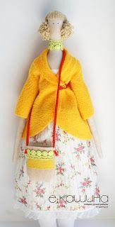 Mimin Dolls: tilda casaco amarelo- parte 1  Tilda yellow coat