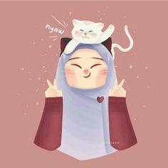 #hijab Hijab Drawing, Islamic Cartoon, Anime Muslim, Hijab Cartoon, Baby Illustration, Digital Painting Tutorials, Fan Art, Best Credit Cards, Cute Drawings
