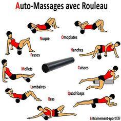 9 auto-massages avec rouleau pour la détente