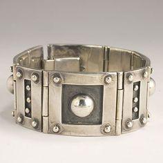 Los Castillo Sterling Silver Steampunk bracelet