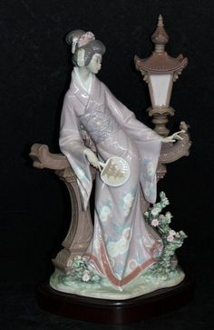 "Lladro ""Mariko"" Porcelain Figure on Porcelain Jewelry, Porcelain Ceramics, China Porcelain, Porcelain Tiles, Polymer Clay Dolls, Beautiful Figure, Ancient China, Collectible Figurines, Art Dolls"
