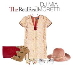 """""""Jet Set Style With DJ Mia Moretti & The RealReal: Contest Entry"""" by tuomoon ❤ liked on Polyvore featuring Eugenia Kim, Miu Miu, Chanel, Rochas, Giuseppe Zanotti and Marco Bicego"""