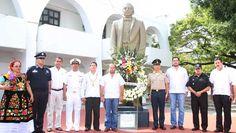 Conmemoran el 142 aniversario del expresidente Benito Juárez