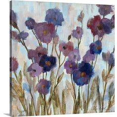 Canvas On Demand 'Abstracted Florals In Purple' by Silvia Vassileva Painting Print on Canvas Size: