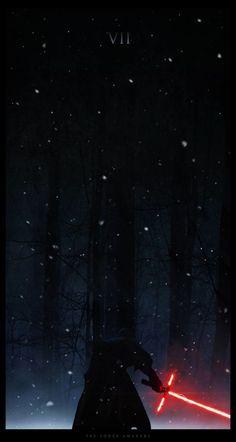 Star Wars: The Force Awakens Fan Poster by Kylo Ren Wallpaper, Star Wars Wallpaper Iphone, Chewbacca, Poster S, Star Wars Poster, Star Wars Vii, Star Trek, Reylo, Images Star Wars