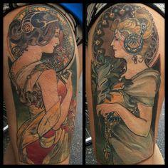 alphonse mucha tattoo thighs - Google-søk