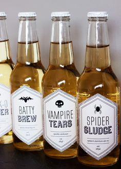 Hello, Halloween Printable Beverage Labels