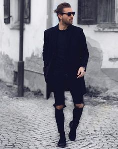 Oufit Man all black #menstyle #look #men