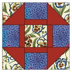 "Free Quilt Block Patterns: Greek Cross Quilt Block Pattern - 12"" Blocks"