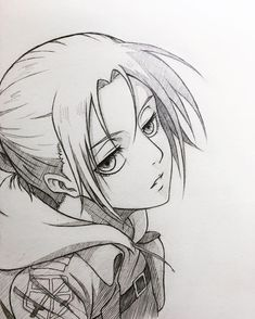 Anime Drawings Sketches, Cool Art Drawings, Anime Sketch, Easy Drawings, Attack On Titan Comic, Attack On Titan Fanart, Anime Sites, Anime Monochrome, Eren Aot