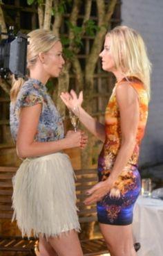 Behind the scenes filming with Marissa Hermer and Julie Montagu. Marissa wears Erdem shirt and Sass & Bide skirt.