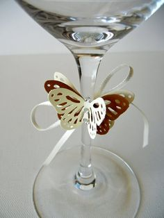 Butterfly with ribbon and crystals to place by MademoiselleAdriana, why did I not think of this for my wedding day :(