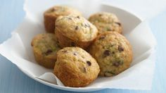 Ready in only 35 minutes, these mini muffins are bursting with shredded zucchini, coconut and chocolate chips.