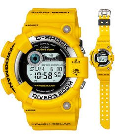 Casio G-Shock: The ISO-level 200-Meter true diver YELLOW FROGMAN new model special for serious diver Tough Solar Tide Graph Series 2010 model Casio Watch #GF-8250-9JF (Men Watch). Please visit us at the following URL: http://www.bodying.com/casio-g-shock-the-iso-level-gf-8250-9jf/watches/23158