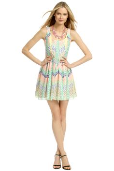 Look pretty in pastels! This full skirt dress by Shoshanna is the perfect choice for some fun in the sun.
