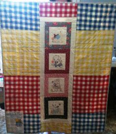The back of Vintage Baby Quilt