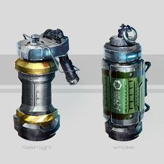 Grenades concept, Juan Novelletto on ArtStation at https://www.artstation.com/artwork/grenades-concept