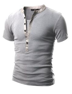 40c832818601 Doublju Mens Henley T-shirts with Sho...  14.99  Doublju