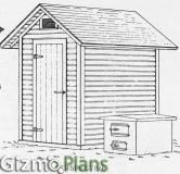 Free Wood Smoke House Plans. Build a Smokehouse with these simple free plans, or use them as Tool Shed Plans. Free plans on how to make a smoker....