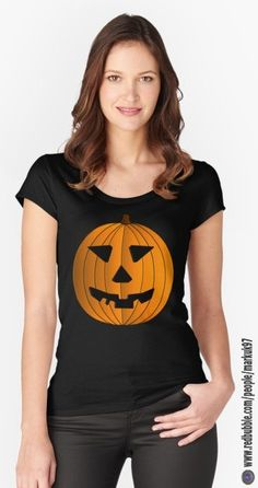 Halloween Pumpkin Illustration Women's Fitted Scoop T-Shirts http://www.redbubble.com/people/markuk97/works/23359059-halloween-pumpkin-illustration?asc=t&p=womens-fitted-scoop via @redbubble