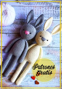 Angeles, Crochet Hats, Bunny, Crochet Bunny, Knitted Animals, Pattern Books, Baby Knitting, Free Pattern, Puppets