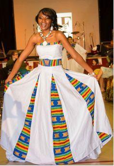 ~African fashion, Ankara, kitenge, Kente, African prints, Senegal fashion, Kenya fashion, Nigerian fashion, Ghanaian fashion ~DKK African Wedding Dress, African Print Dresses, African Wear, African Attire, African Women, African Dress, Wedding Dresses, Wedding Hijab, African Prints