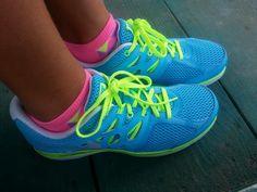 Devon's Shoes #blue #neaonyellow #sneakers #women #girls #teens #shoes