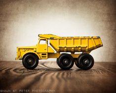 Vintage Toy Dump Truck, Photo Print, Boys Room decor, Construction Vehicle, Boys Nursery Ideas