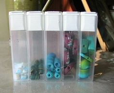 Tic Tac container organizer for beads and other tiny things